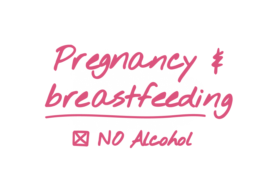 Pregnancy & breastfeeding - no alcohol